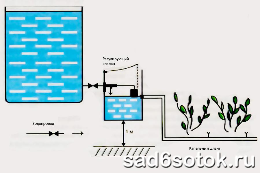 Схема капельного полива.